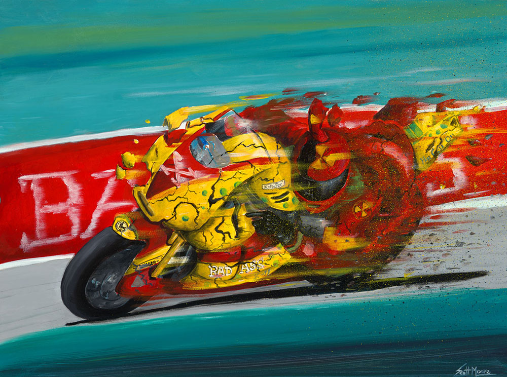 "Speed Oil on Panel 16""x20"""